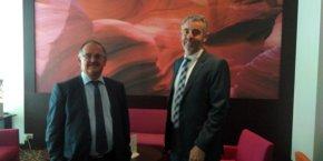 De g. à d.: Francis Lafon et Bruno Boivin.