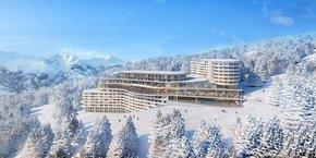 Le Club Med des Arcs, actuellement en construction.