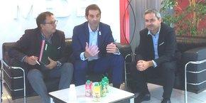 J.-M. Oluski (LR SET), V. Caillet (Union Cycle et Sport) et S. Hervé (Medef Montpellier)