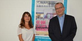 Bérénice Chazal, chargée du marketing et de la communication, et Nicolas Bournet.