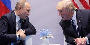 Vladimir Poutine et Donald Trump au sommet du G20 à Hambourg le 7 juillet dernier.