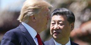 Donald Trump et Xi Jinping lors de leur unique rencontre, le 7 avril 2017, à Mar-a-Lago (Floride)