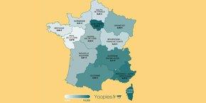 L'étude, qui inclut cette année la Corse, constate que c'est dans cette île que les parents déboursent le plus, versant un salaire net moyen estimé à 9,24 euros de l'heure, devant l'Ile-de-France (9,09 euros, en baisse de 1,5%).
