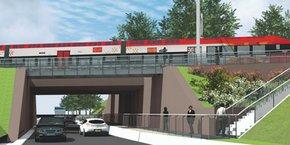 Le futur pont-rail de Baillargues, réalisé par SNCF Réseau après suppression du passage à niveau, sera opérationnel en septembre 2018.