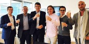 P.-H. Comble (Cegedim), J. Jacquemin (Cegedim), P. Simon (Cegedim), V. Daffourd (Care Labs), B. Ferré (Care Labs) et S. Chrétien (Care Labs)