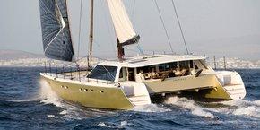 L'un des modèles de la gamme Gunboat, racheté par Outremer Yachting en 2016