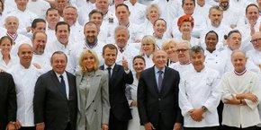 Ce mercredi 27 septembre, le président recevait 180 chefs étoilés à l'Elysée.