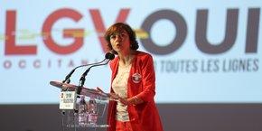 Carole Delga ce mercredi 4 octobre à l'hôtel de Région à Toulouse