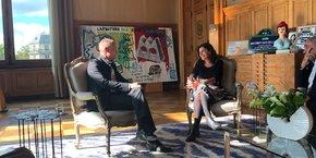 Entretien entre Anne Hidalgo et Bertrand Piccard le 13 octobre 2017