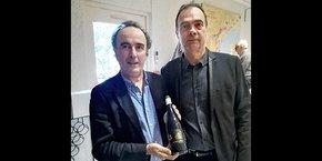 Eric Fargeas, directeur d'Agropolis International, et Jean-Philippe Granier, directeur AOC Languedoc.
