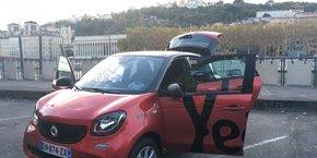 Sur ce modèle, 100 Yea! sont disponibles en autopartage à Lyon.