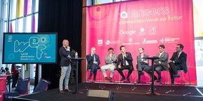Première présentation publique du World Electronics Forum lors de l'opération Angers accueille Google. (Photo: Thierry Bonnet/Ville d'Angers)