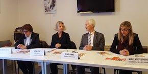 Marie Meunier-Polge (Région Occitanie), Sophie Nègre (Direccte Occitanie), Olivier Hammel et Muriel Nivert-Boudou (CRESS Occitanie)