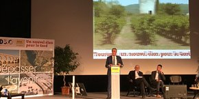 Denis Bouad, président du CD30, lors des assises départementales du tourisme