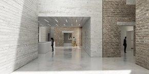 La salle du passage, au sein du Musée de Lodève