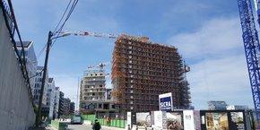 Le chantier Bouygues Immobilier à Paris Batignolles est équipé de PreventMsg, le logiciel déployé par la startup.