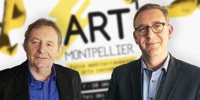Didier Vesse (Art up!) et Cédric Fiollet (Montpellier Events)