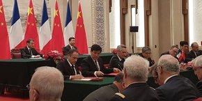 Ludovic Le Moan fait partie de la délégation de chefs d'entreprises à l'occasion de la visite d'Emmanuel Macron en Chine.