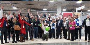 Une partie de la délégation de Nouvelle-Aquitaine au CES 2018