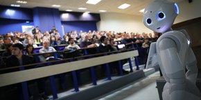 Le robot Ziggy a été présenté au public fin février à l'université Paul-Sabatier de Toulouse.