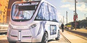 Navya a imaginé une navette autonome pour répondre à la question du dernier kilomètre.