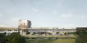 Le futur pôle hôtelier sera équipé d'un parking de 210 places.