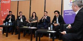 N. El Ouachmi (Burostation), M. Lalande (Idéalys), K. Vidic (codev 3M), C. Perez (SERM SA3M), A. Aamarcha (Gogowego), A. Rey (La Tribune)