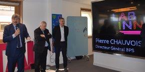 P. Chauvois (DG de la BPS), A. Joffre (président du CA de la BPS) et Y. Tyrode (DG chargé du digital au sein du groupe BPCE).