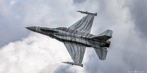 Sur la photo, un F-16 polonais