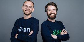 Les cofondateurs de la startup de l'assurance Alan, Jean-Charles Samuelian, directeur général, et Charles Gorintin, directeur technique, ont levé 37 millions d'euros depuis la création de l'entreprise en 2016.