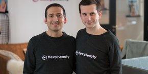Ilan Koskas et Sébastien Beaujard, les deux confondateurs et dirigeants de FlexyBeauty.