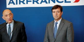 Jean-Marc Janaillac, PDG d'Air France-KLM et Président d'Air France et Franck Terner, directeur général d'Air France