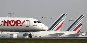 HOP, Air France, filiale, low-cost, compagnie aérienne, Regional, Britair, AIrlinair, KLM,
