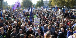 Manifestation a londres pour un second referendum sur le brexit