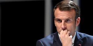 Europeennes: macron attaque le rn, son principal adversaire