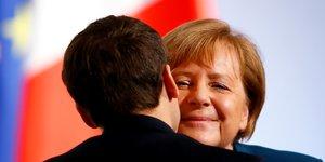 Angela Merkel Emmanuel Macron France Allemagne