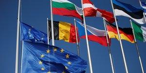 Union européenne, Bruxelles, UE, drapeau, flag,
