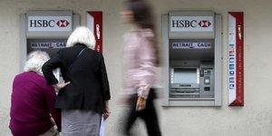 HSBC France agence DAB distributeur