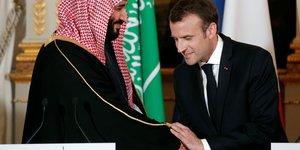Macron, Salman