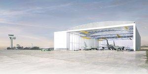 Hangar aéroport Marcel Dassault