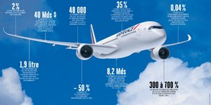 Infographie, H296, pollution, aviation, trafic aérien,
