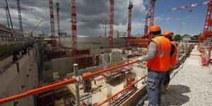 Tribunal, Paris, chantier, BTP, ouvriers, ZAC Clichy-Batignolles, béton,