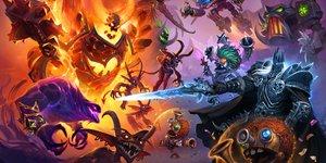 Blizzard, Hearthstone, jeu video,  Battlegrounds Key Art