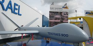 Elbit Systems, drone, Hermes 900, Paris Air Show 2007
