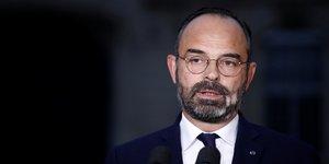 Premier ministre Edouard Philippe, discours à l'Hôtel Matignon, mobilisation réforme des retraites