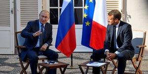 Poutine et macron ont parle de l'ukraine et de la syrie