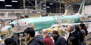 Boeing 737 MAX, ligne d'assemblage, usine, construction aéronautique,