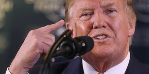 Donald Trump lors du forum économique de Davos