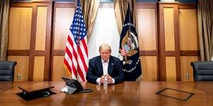 Trump annonce qu'il quittera l'hopital a 22h30 gmt