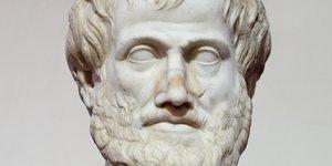 Aristote, copie romaine d'une sculpture de Lysippe de Sicyone (-330 av. J.-C.),